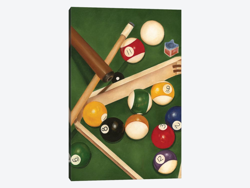 Rack 'em Up I by Jennifer Goldberger 1-piece Art Print