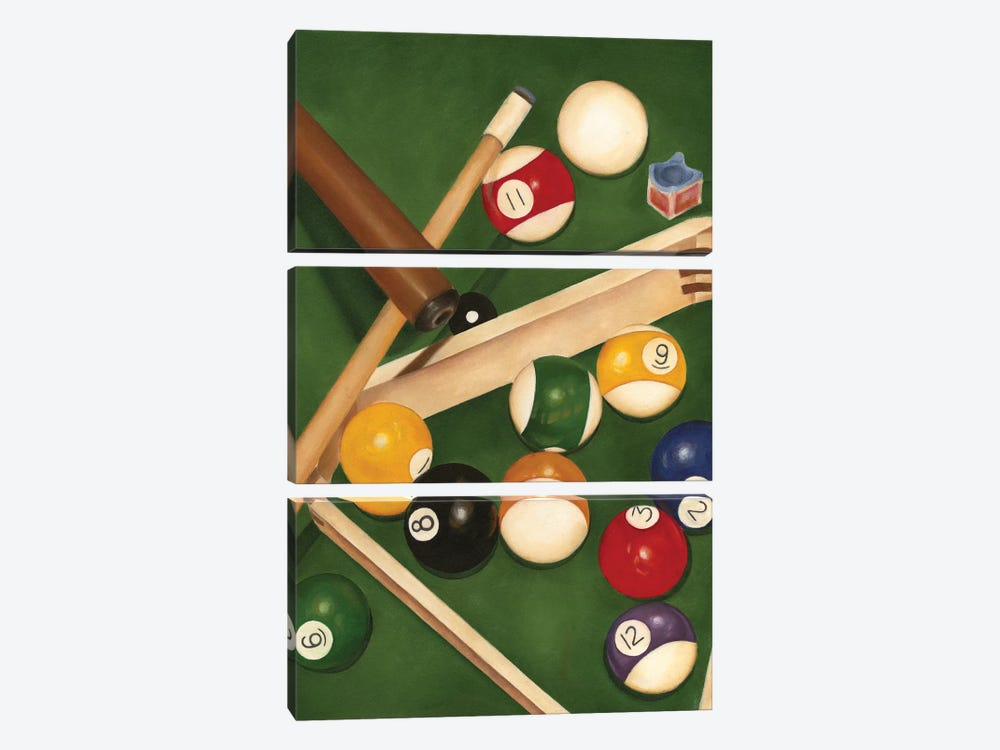 Rack 'em Up I by Jennifer Goldberger 3-piece Canvas Print