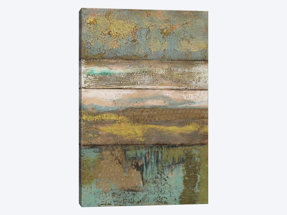 Segmented Textures II by Jennifer Goldberger 1-piece Canvas Art