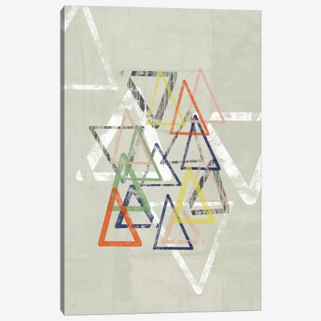 Stamped Triangles I Canvas Print #JGO146} by Jennifer Goldberger Art Print