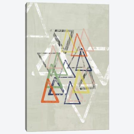 Stamped Triangles I 3-Piece Canvas #JGO146} by Jennifer Goldberger Art Print