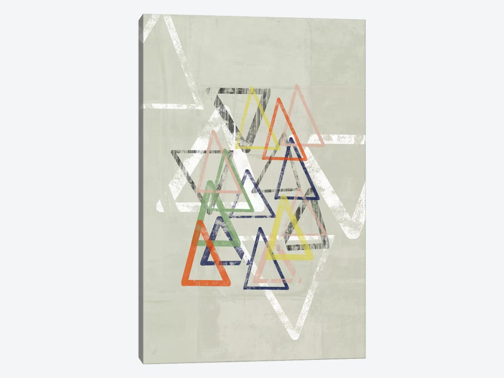 Stamped Triangles I 1-piece Canvas Print