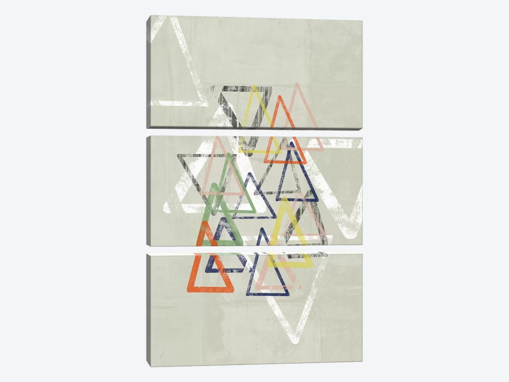 Stamped Triangles I by Jennifer Goldberger 3-piece Art Print