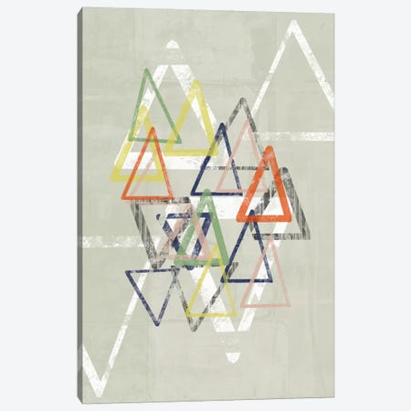 Stamped Triangles II Canvas Print #JGO147} by Jennifer Goldberger Canvas Art Print