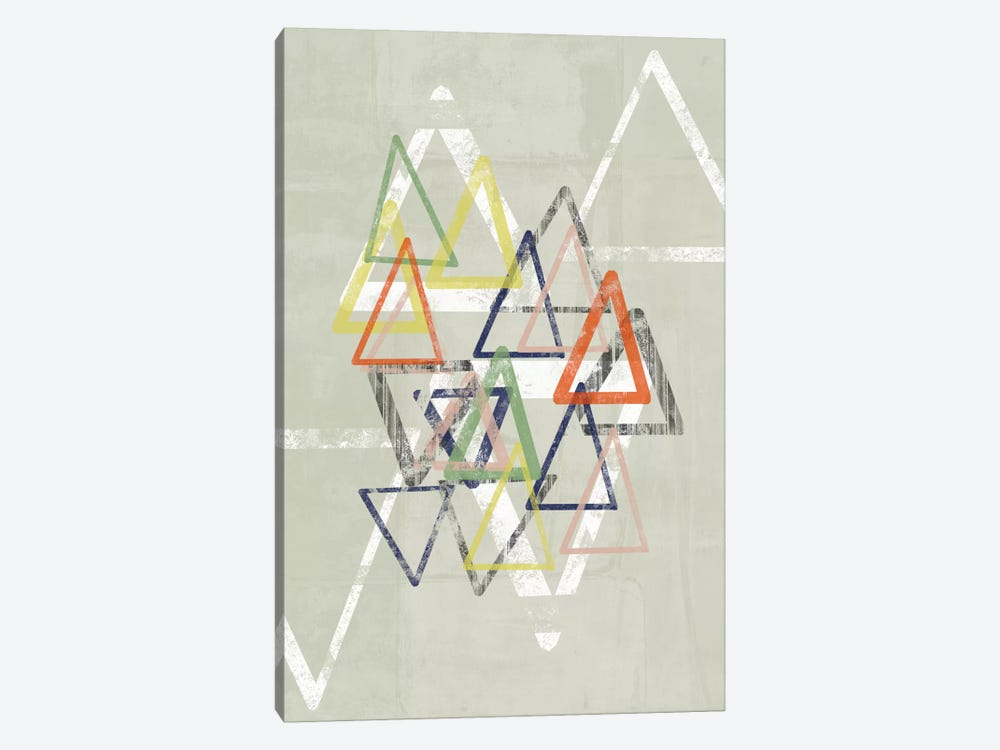 Stamped Triangles II by Jennifer Goldberger 1-piece Canvas Art