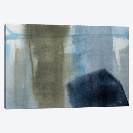Blue On Grey I Canvas Print #JGO148} by Jennifer Goldberger Canvas Art