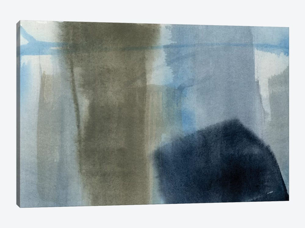 Blue On Grey I by Jennifer Goldberger 1-piece Canvas Art Print