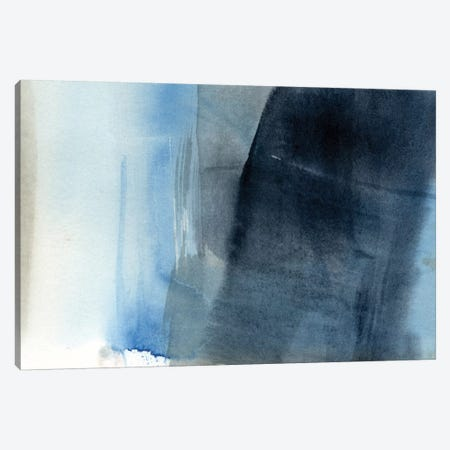 Blue On Grey II Canvas Print #JGO149} by Jennifer Goldberger Canvas Art