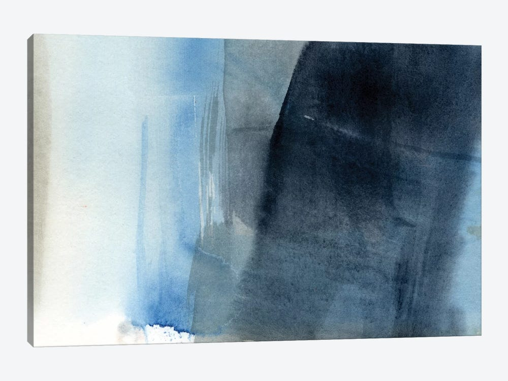 Blue On Grey II by Jennifer Goldberger 1-piece Canvas Artwork