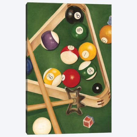Rack 'em Up II Canvas Print #JGO14} by Jennifer Goldberger Canvas Art