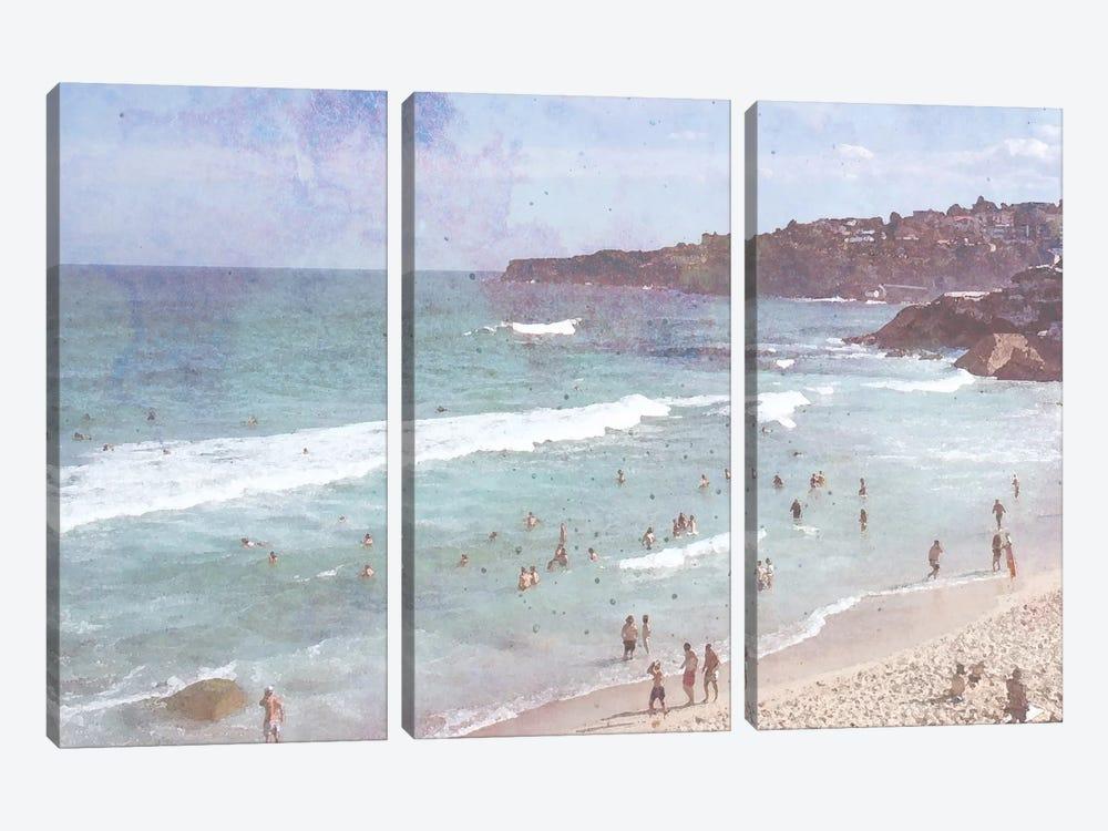 Day At The Beach III by Jennifer Goldberger 3-piece Canvas Wall Art