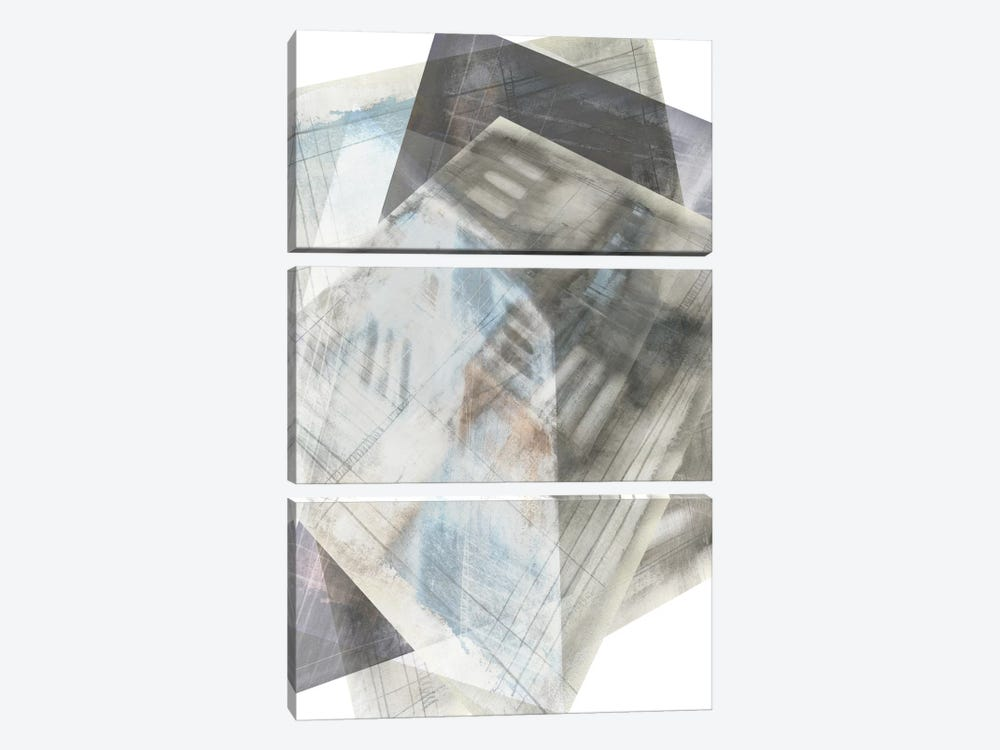 Faceted Illusion III by Jennifer Goldberger 3-piece Canvas Art Print