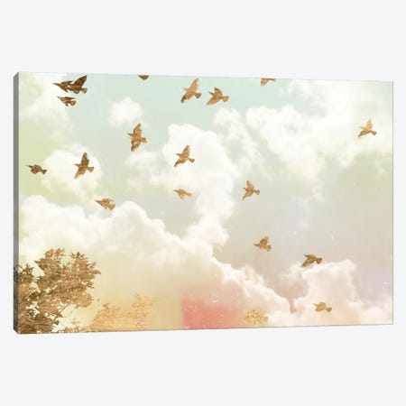 Golden Flight I Canvas Print #JGO164} by Jennifer Goldberger Canvas Print