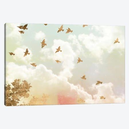 Golden Flight I Canvas Print #JGO164} by Jennifer Goldberger Canvas Print