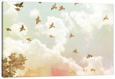 Golden Flight I Canvas Art Print