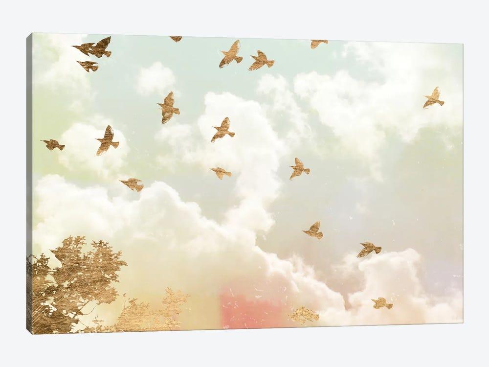 Golden Flight I by Jennifer Goldberger 1-piece Art Print