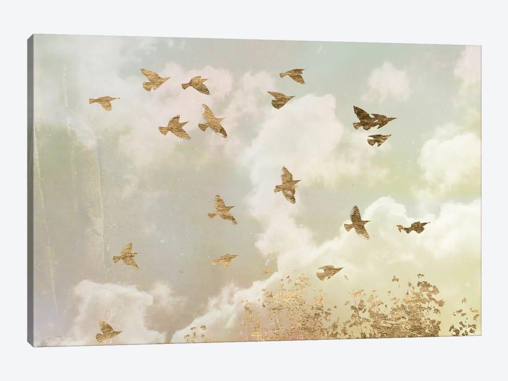 Golden Flight II by Jennifer Goldberger 1-piece Canvas Artwork