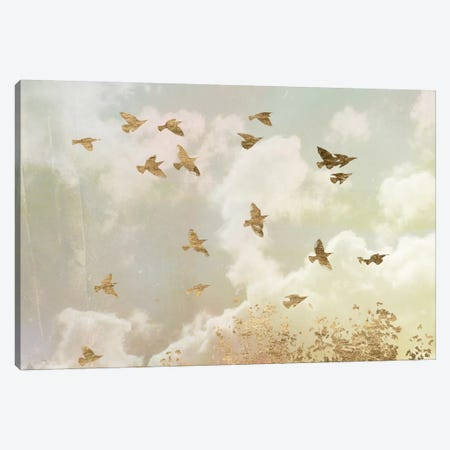 Golden Flight II Canvas Print #JGO165} by Jennifer Goldberger Art Print