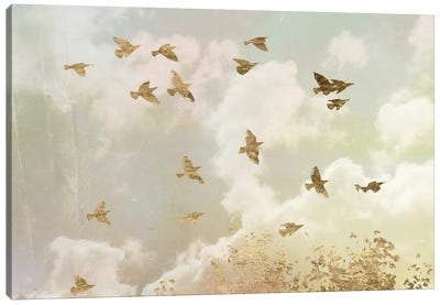 Golden Flight II Canvas Art Print