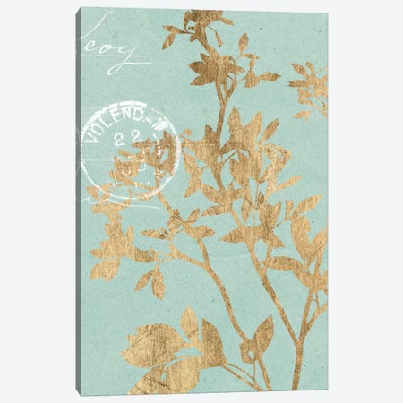 Golden Leaves II Canvas Print #JGO167} by Jennifer Goldberger Art Print