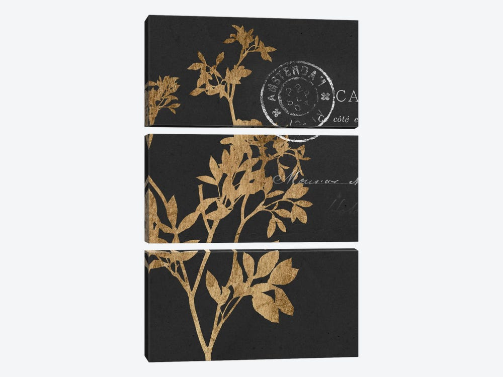 Golden Leaves III 3-piece Art Print