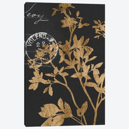 Golden Leaves IV Canvas Print #JGO169} by Jennifer Goldberger Canvas Artwork