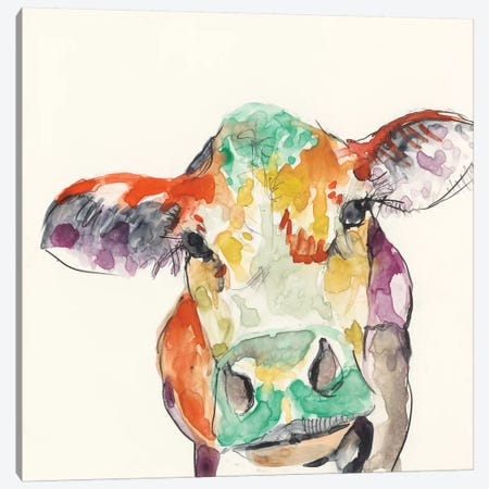 Hi-Fi Farm Animals II Canvas Print #JGO173} by Jennifer Goldberger Art Print