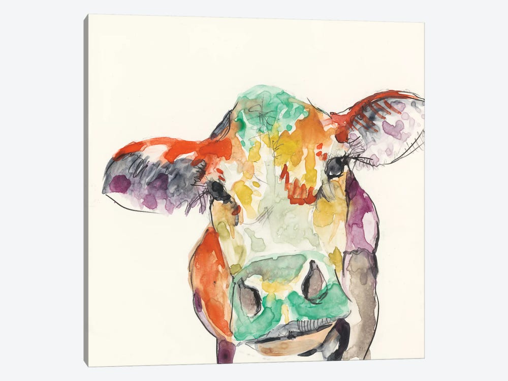 Hi-Fi Farm Animals II by Jennifer Goldberger 1-piece Canvas Print