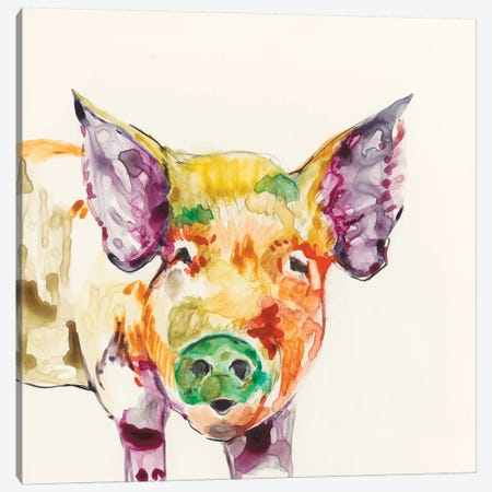 Hi-Fi Farm Animals III Canvas Print #JGO174} by Jennifer Goldberger Canvas Art