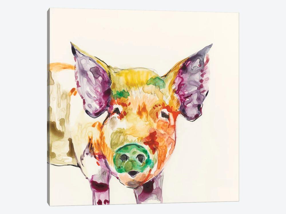 Hi-Fi Farm Animals III by Jennifer Goldberger 1-piece Canvas Artwork