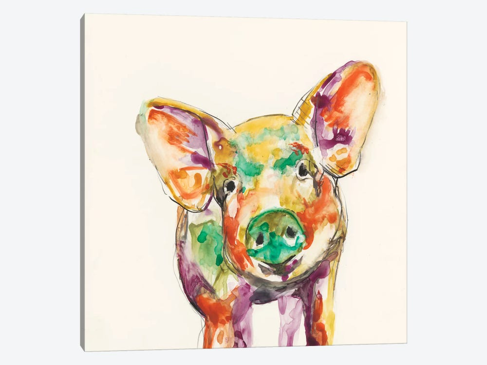 Hi-Fi Farm Animals IV by Jennifer Goldberger 1-piece Art Print