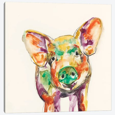 Hi-Fi Farm Animals IV Canvas Print #JGO175} by Jennifer Goldberger Canvas Wall Art