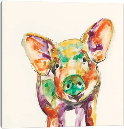 Hi-Fi Farm Animals IV Canvas Art Print