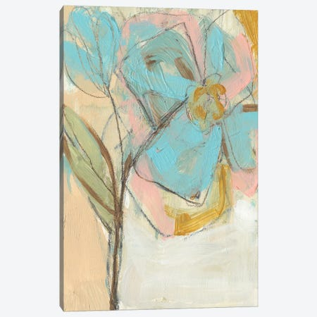 Impasto Flower I Canvas Print #JGO176} by Jennifer Goldberger Canvas Artwork