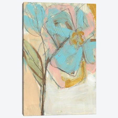 Impasto Flower I Canvas Print #JGO176} by Jennifer Goldberger Canvas Artwork