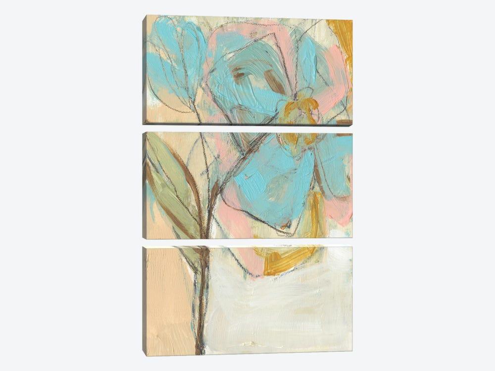 Impasto Flower I by Jennifer Goldberger 3-piece Canvas Wall Art