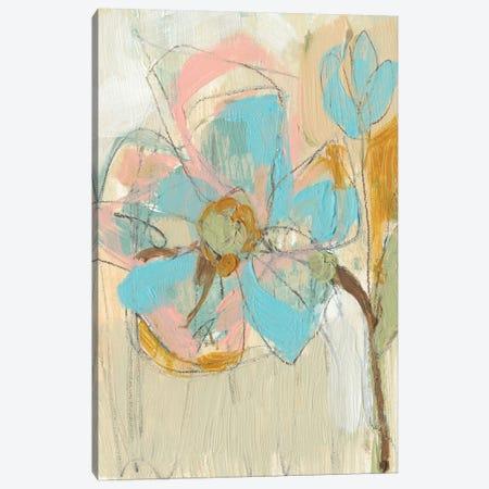 Impasto Flower II Canvas Print #JGO177} by Jennifer Goldberger Canvas Artwork