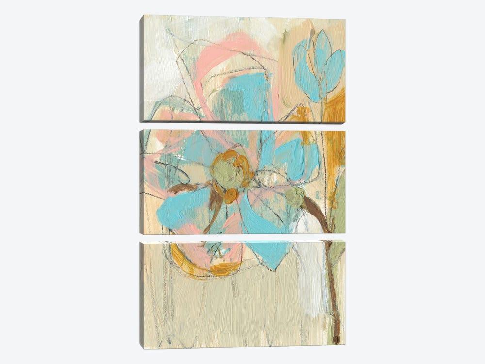 Impasto Flower II by Jennifer Goldberger 3-piece Canvas Art Print