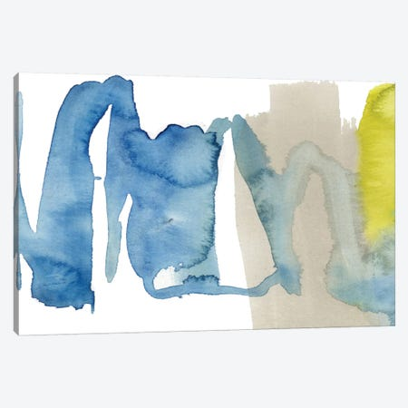 Indigo & Citron I Canvas Print #JGO178} by Jennifer Goldberger Art Print