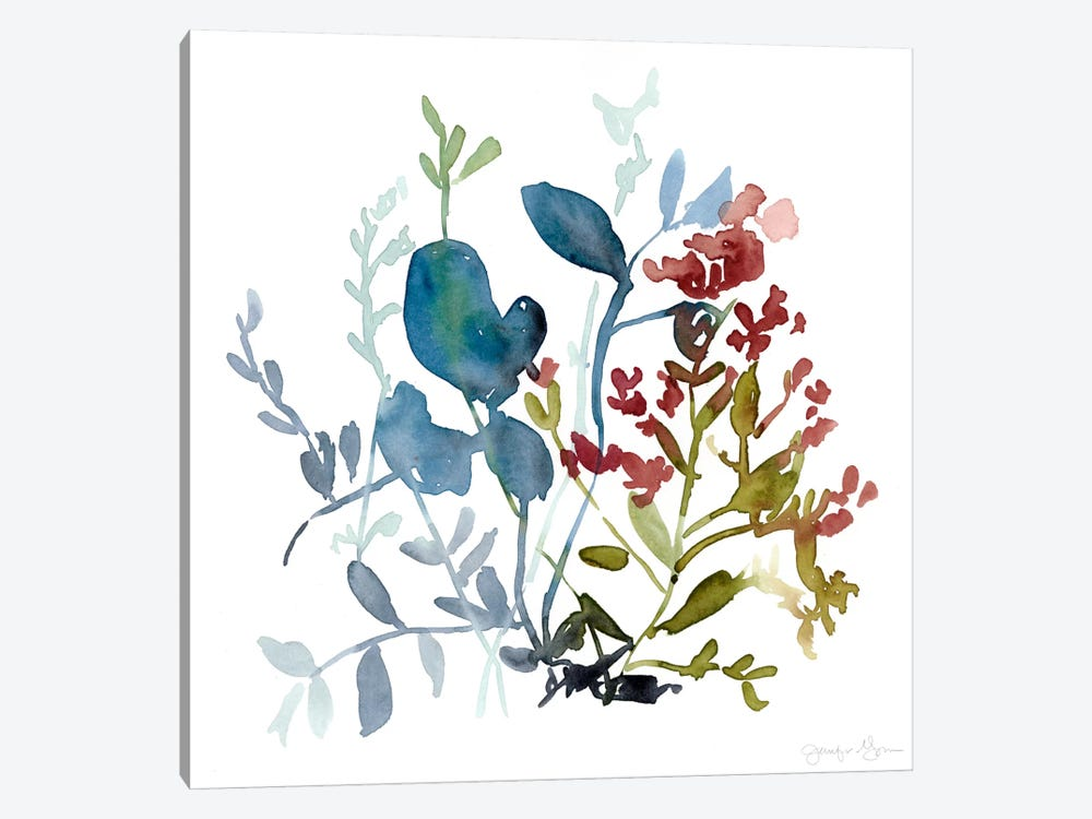 Bloom Array I by Jennifer Goldberger 1-piece Art Print