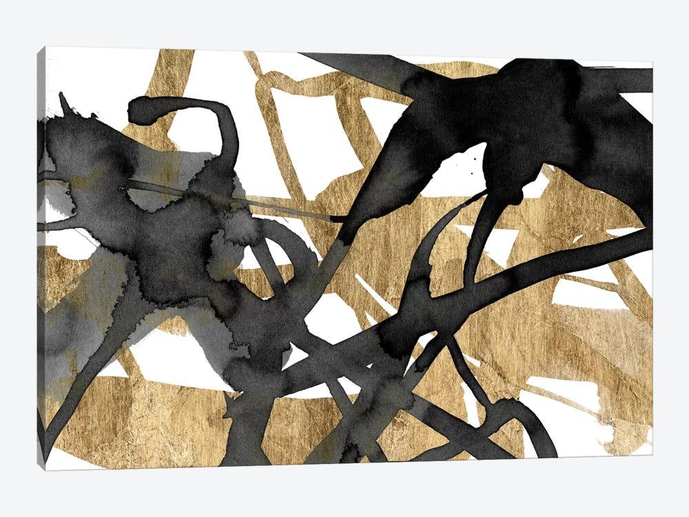 Luxe Gold I by Jennifer Goldberger 1-piece Canvas Print