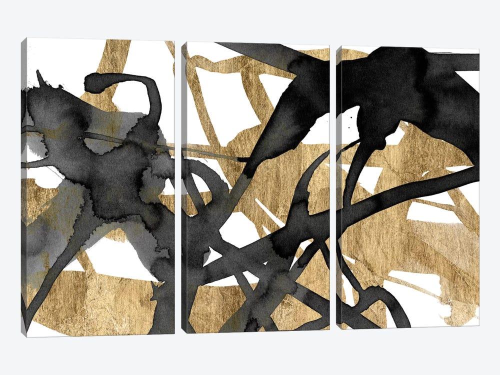 Luxe Gold I by Jennifer Goldberger 3-piece Canvas Print