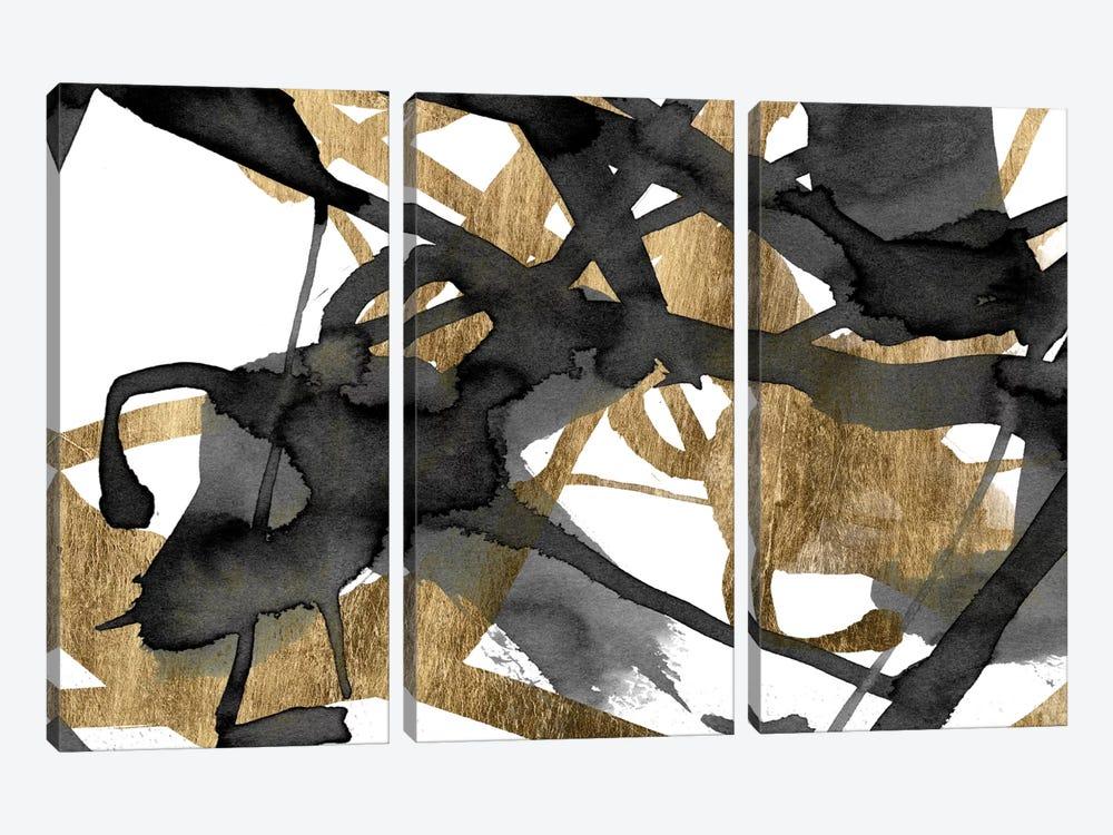 Luxe Gold II by Jennifer Goldberger 3-piece Canvas Art