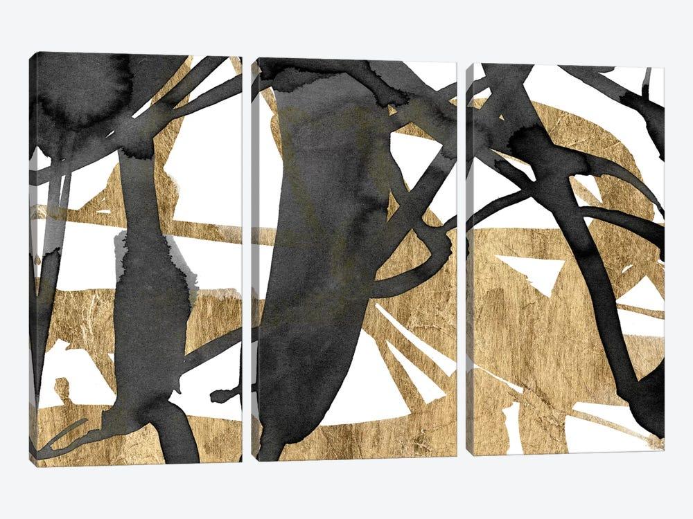 Luxe Gold III by Jennifer Goldberger 3-piece Canvas Art Print