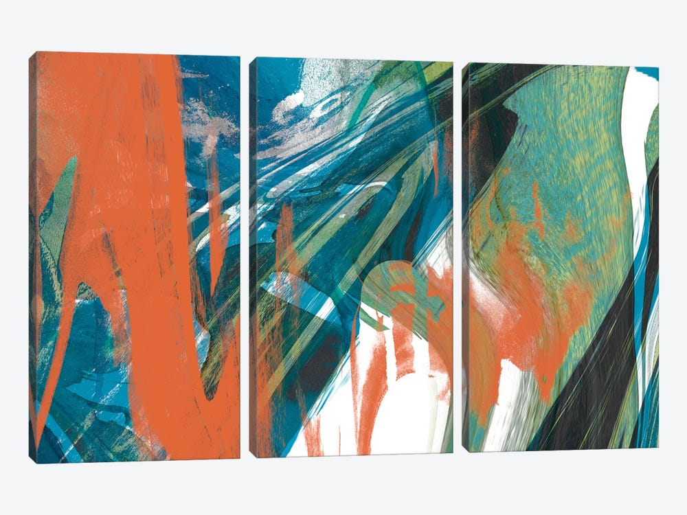 Marbled Abstraction I by Jennifer Goldberger 3-piece Canvas Wall Art