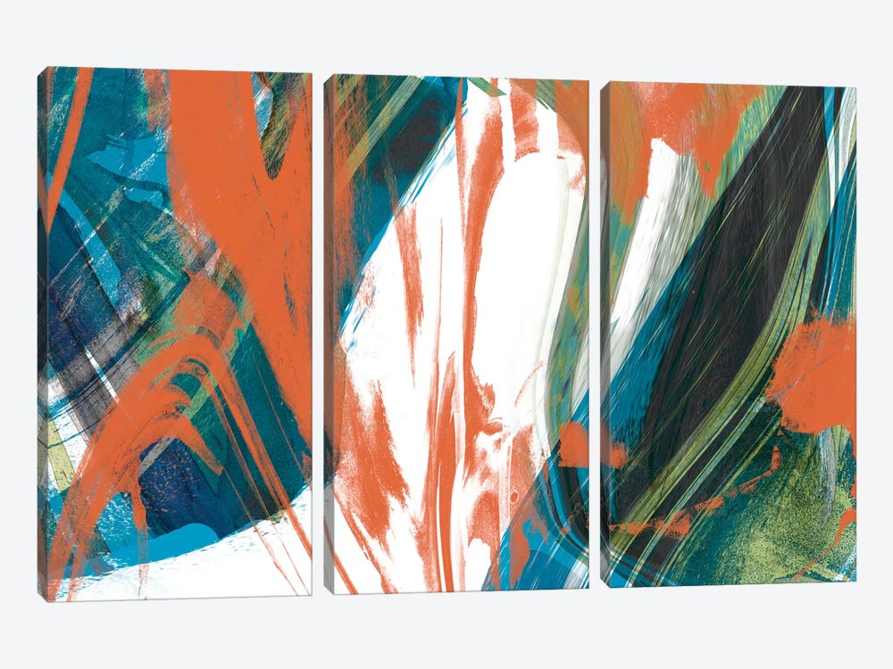Marbled Abstraction II by Jennifer Goldberger 3-piece Art Print