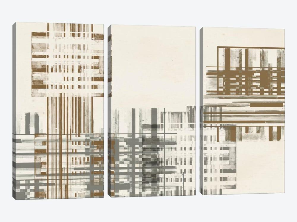 Matrix Illusion  IV by Jennifer Goldberger 3-piece Canvas Art