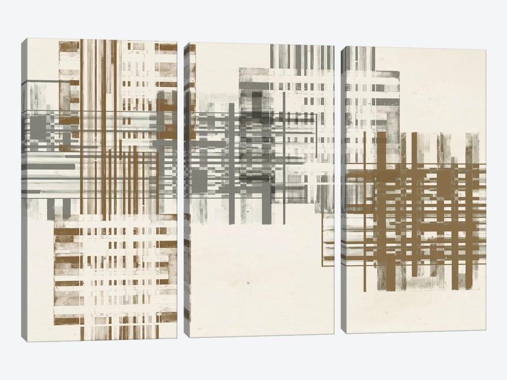 Matrix Illusion  V by Jennifer Goldberger 3-piece Art Print