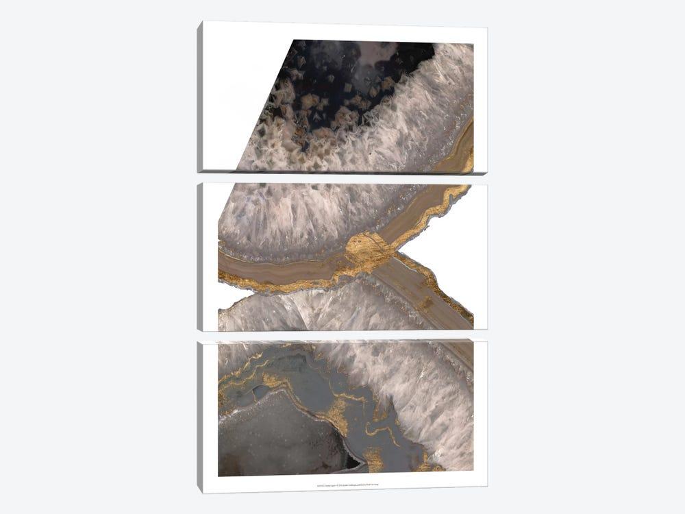 Neutral Agates I by Jennifer Goldberger 3-piece Canvas Artwork