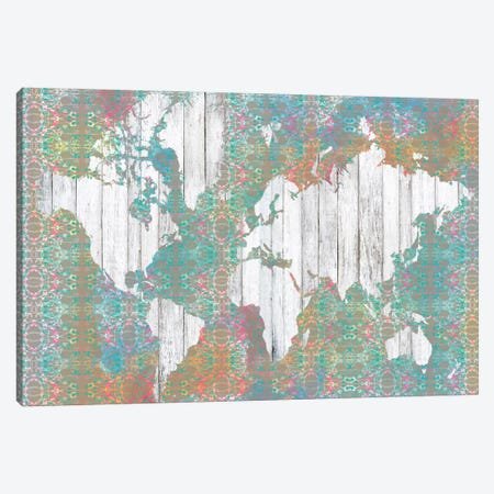 Boho Map I Canvas Print #JGO19} by Jennifer Goldberger Canvas Art Print